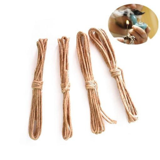 Hemp Wick Natural Unbleached Hemp and Beeswax 3.3 FT pack of 3 pcs