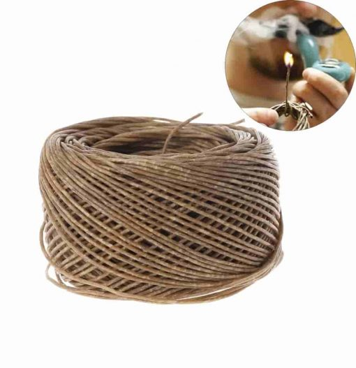 Hemp Wick Natural Unbleached Hemp and Beeswax 195 FT