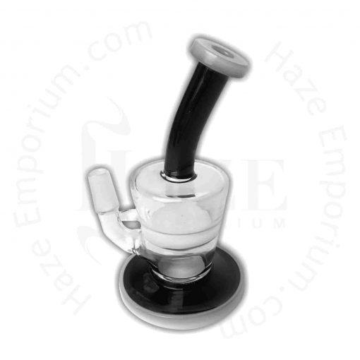 Black & White Glass Mini Dab Rig with Honeycomb Percolator Rig