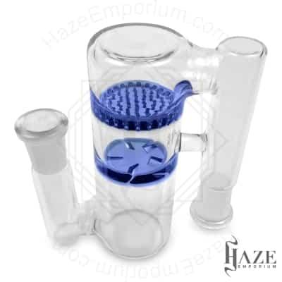 Glass Ash-Catcher w/ Double Percolator/ honeycomb & Vortex Percolator